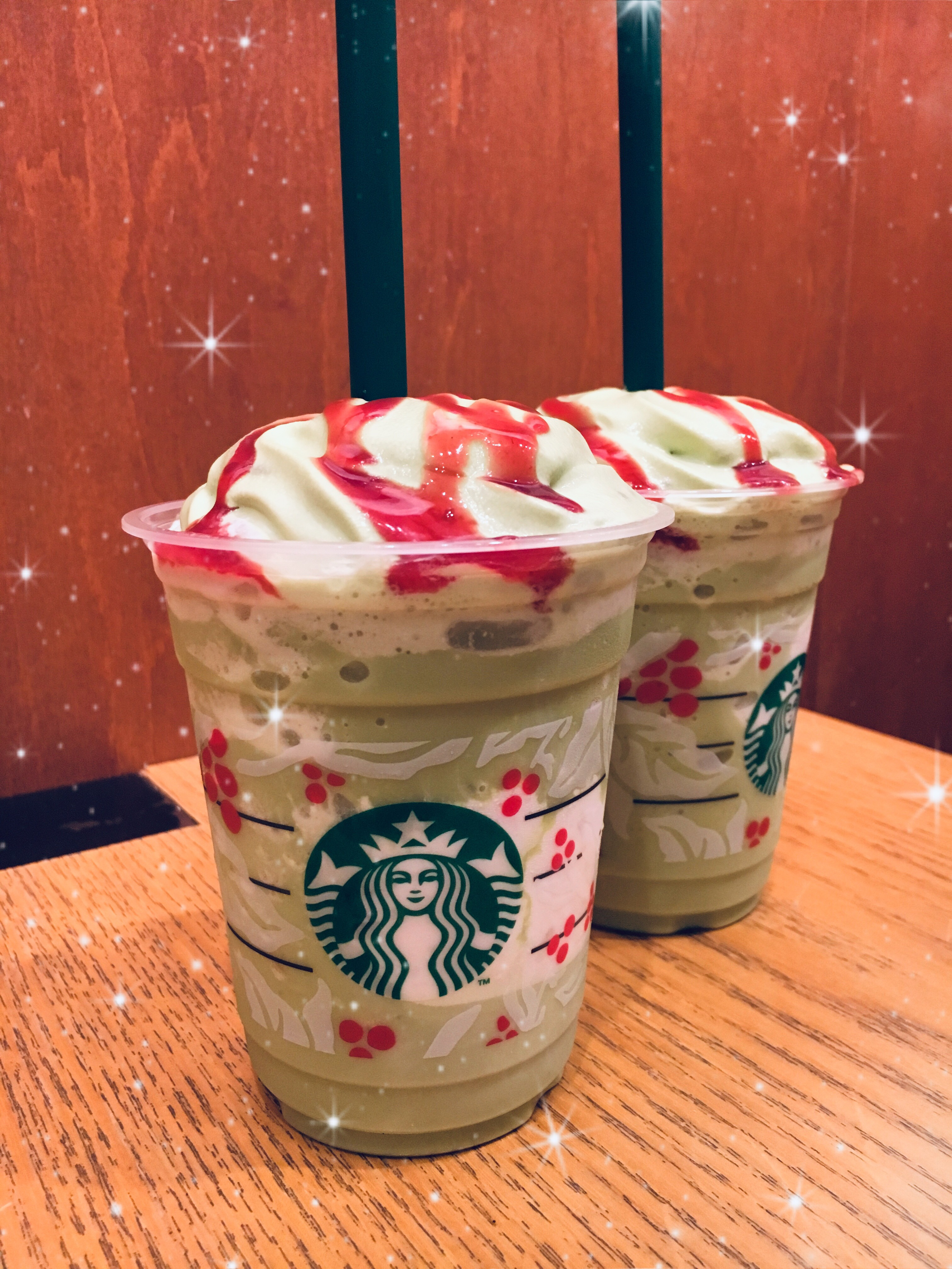 Starbucks Limited Edition Christmas Tree Frappuccino Pistachio